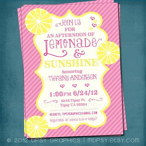 Lemonade For Baby Shower by Lemonade And Baby Or Bridal Shower Invite Yellow
