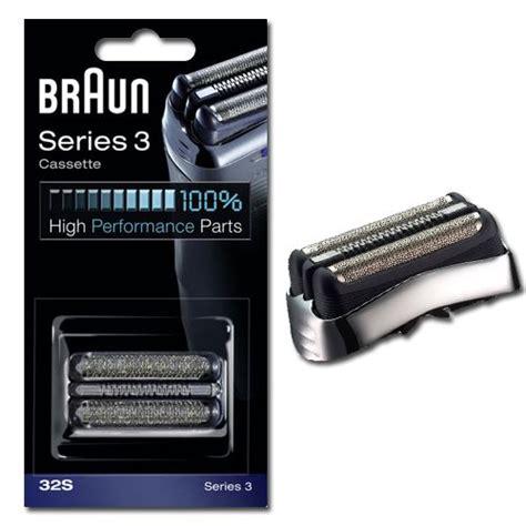 braun 32s cassette braun cassette 32s s 233 ries 3 grise pour rasoir 233 lectrique