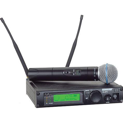 Wireless Microphone Shure Bisa Ubah Frequensi shure ulx professional series wireless ulxp24 beta58 g3 b h