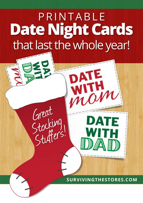 printable christmas cards for mom and dad printable mom dad date night cards for stocking stuffers
