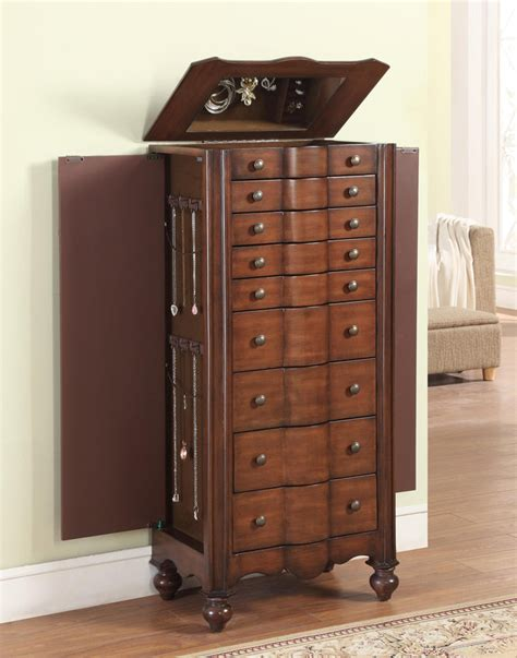 jewelry armoire mahogany powell mahogany jewelry armoire pw 612 314 at homelement com