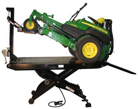 garden tractor lift table handy deck lawn mower zero turn lift table
