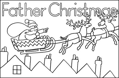 coloring pictures of father christmas christmas books my favourite artwork look out story time