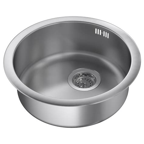sink bowl boholmen inset sink 1 bowl stainless steel 45x15 cm ikea