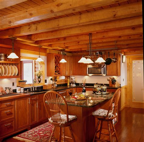 log home layouts kitchens cabin small log log cabin kitchens with islands