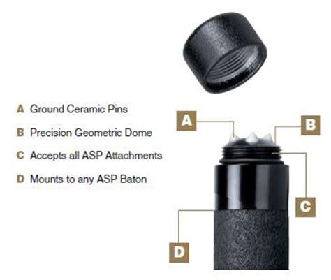 asp glass breaker the asp baton breakaway end cap glass breaking tool fits