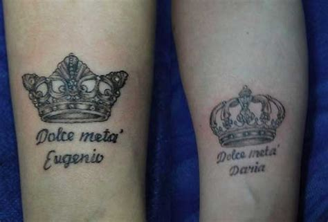 queen tattoo on foot 40 king queen tattoos that will instantly make your