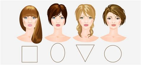 different hair for differen head shapes perfect hair bangs that will flatter the 4 different face