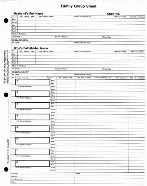 family sheet template family sheet genealogy the family