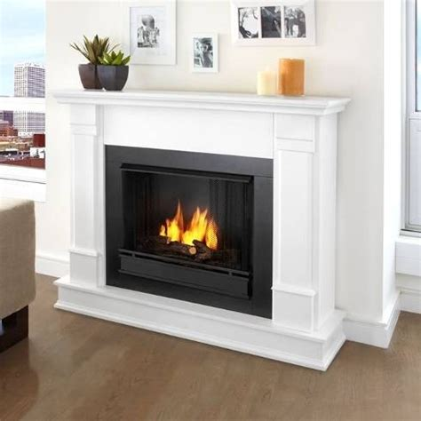 White Ventless Fireplace by Real G8600 W Silverton White Ventless Gel Fireplace