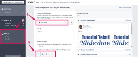 tutorial facebook ads forobeta tutorial cara bina facebook carousel ads di ads manager