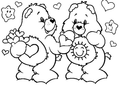 care bear coloring pages learn to coloring