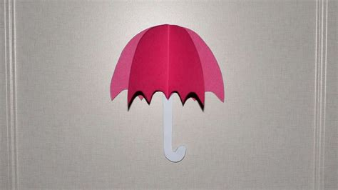 Umbrella Paper Craft - how to umbrella from color paper diy crafts tutorial