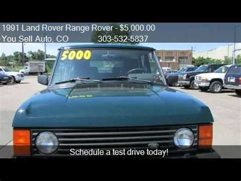 1991 land rover range rover hunter edition 4wd for sale