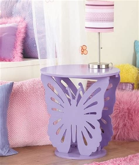 childrens butterfly bedroom accessories purple butterfly table kids bed room girls cute table
