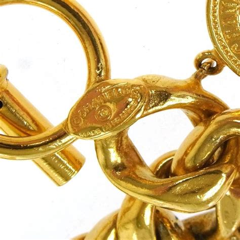 A25 Bangle For Luxury Evening chanel vintage gold coin charm toggle evening bracelet at
