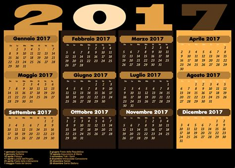 Calendario 2018 Italiano Con Festività Italino Calendario 2017 Con Festivit 224 2017 Calendar