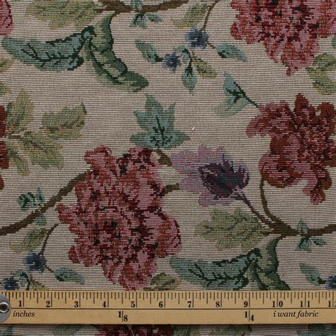 vintage tapestry upholstery fabric english traditional vintage floral garden tapestry