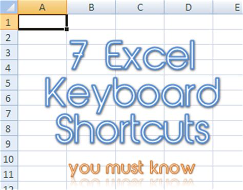 7 excel keyboard shortcuts you must