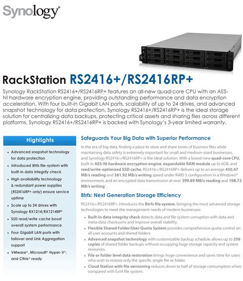 Synology Rs2416 1 synology rs2416 rack station 12 bay diskless network attached storage