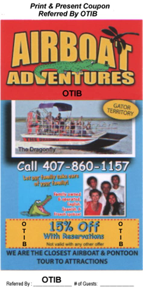coupons for airboat