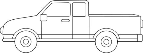 Truck Outline by Truck Outline Clipart