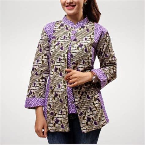 Model Batik Muslim Terbaru Model Baju Muslim Batik Terbaru Untuk Wanita