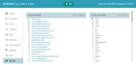 youtube hostname pattern ontolo prospecting tools for link building seo social
