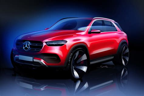 mercedes benz teases  gle luxury suv