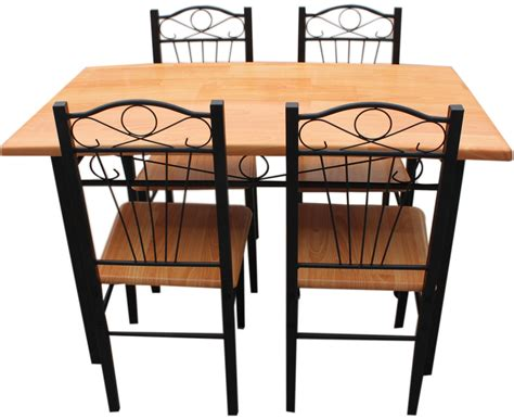 new kitchen dining set with table chairs metal frame wood