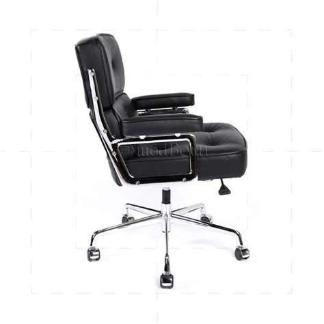 eames time chair replica ea104 eames style office lobby black leather executive