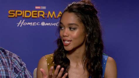 laura harrier imdb spiderman interview zendaya as michelle jacob batalon as