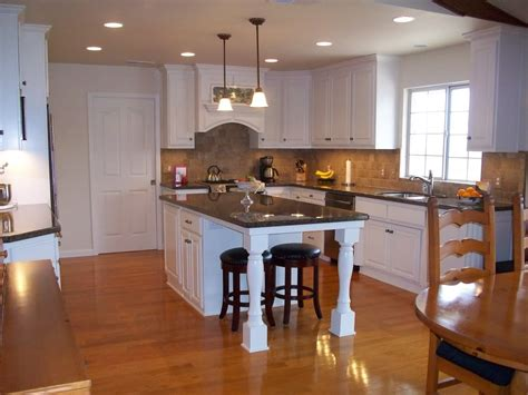 photos of kitchen islands pictures small kitchen island with seating on end