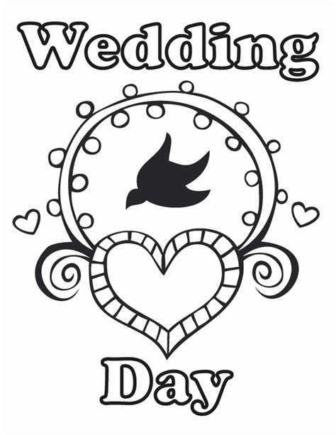 wedding coloring book pages free coloring home