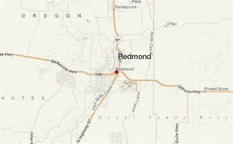Redmond Oregon Map by Redmond Oregon Location Guide