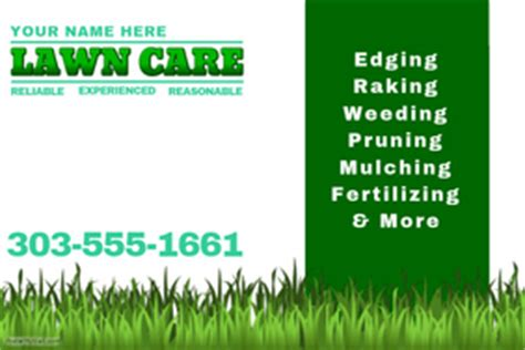 free printable lawncare card templates lawn service flyer templates postermywall