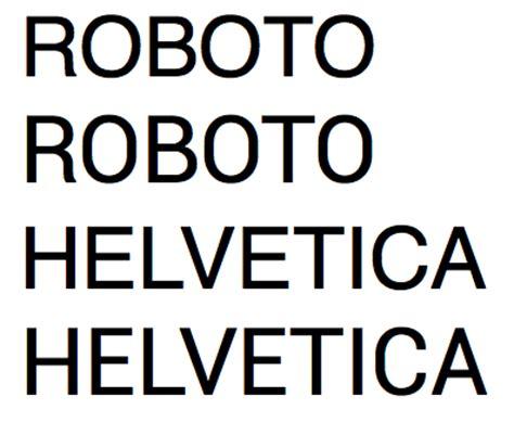 dafont din roboto or google android design