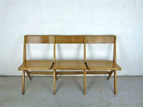 fold up bench antique oak school fold up bench 3 seats eyespy