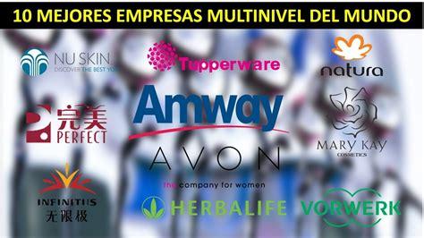 las 10 empresas de multinivel mas importantes del 2015 las 10 mejores empresas de multinivel del mundo youtube