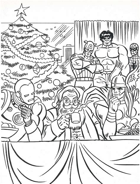 superhero christmas coloring page superhero christmas coloring pages