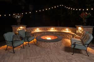 Paver Patio With Fire Pit Highland Stone 174 Eaglebay Usa Pavers