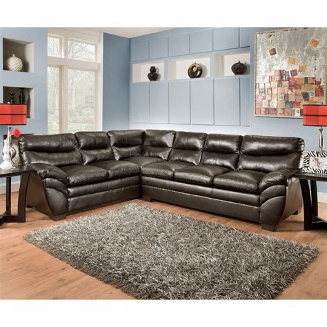 simmons bonded leather sectional simmons soho bonded leather sectional sectional sofas at
