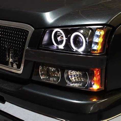 2004 chevy silverado halo lights 03 06 chevy silverado halo led projector headlights