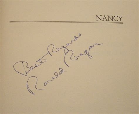 nancy reagan signature reagancollector com ronald reagan signed autographed