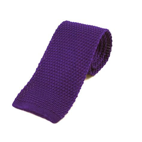 purple knit tie purple knitted silk tie extras