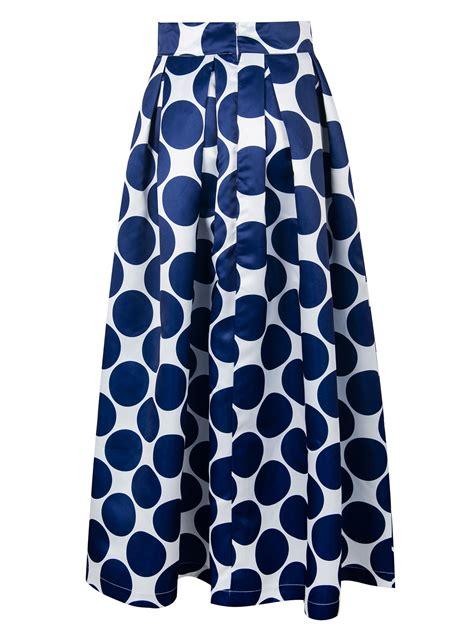 Polka Dot Maxi Skirt white contrast polka dot print maxi skirt choies