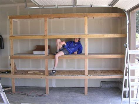 Garage Shelving Woodworking Plans How To Build Wood Garage Storage Cabinets