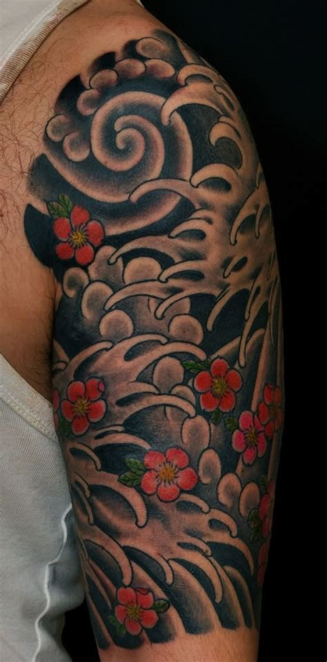 japanese half sleeve tattoo 14 awesome wave tattoos on half sleeve