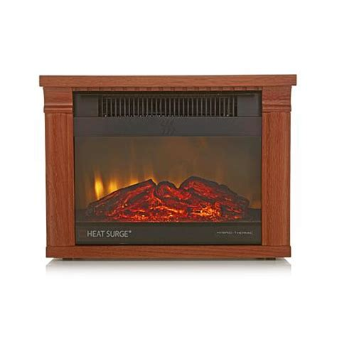 led fireplace heater hsn heat surge mini glo infrared led fireplace heater