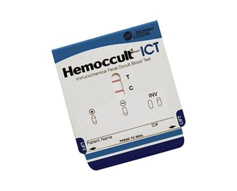 Hemocult Stool Specimen by Beckman Coulter Hemoccult Ict Sle Save At Tiger
